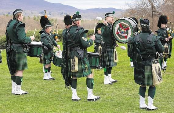 Bagpipes abound at West Point fest
