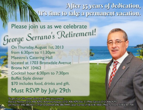 George Serrano's Retirement Party