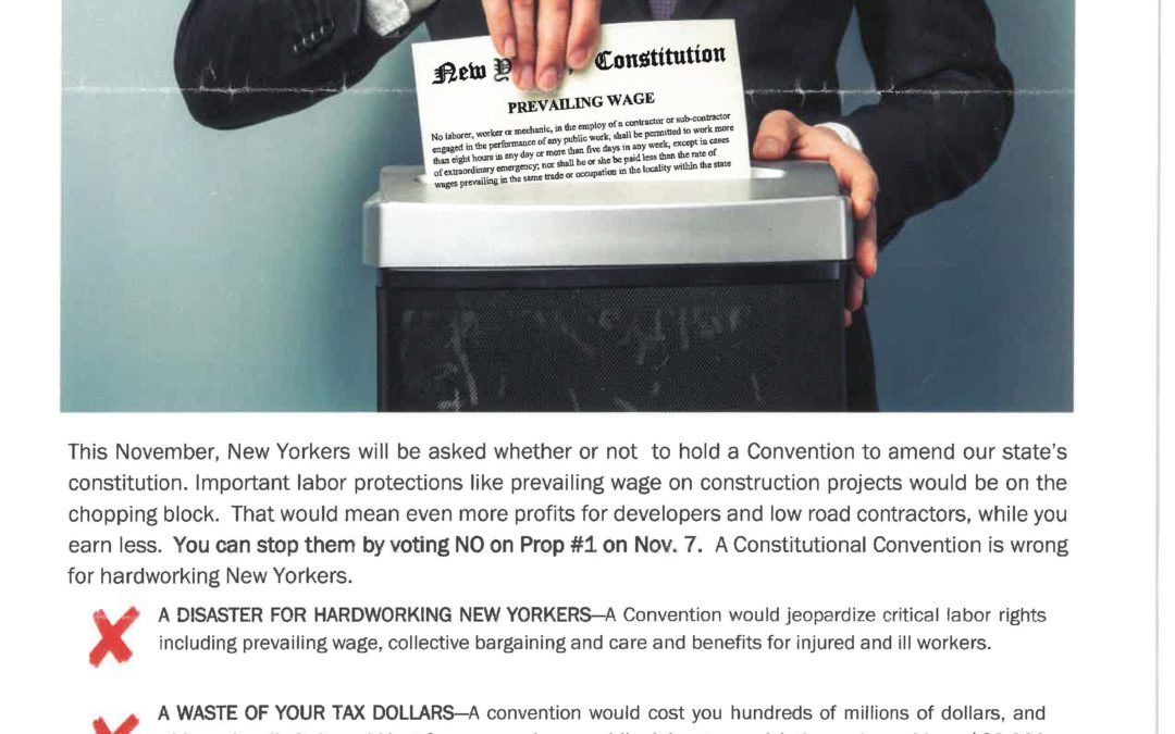 Say NO to a State Constitutional Convention